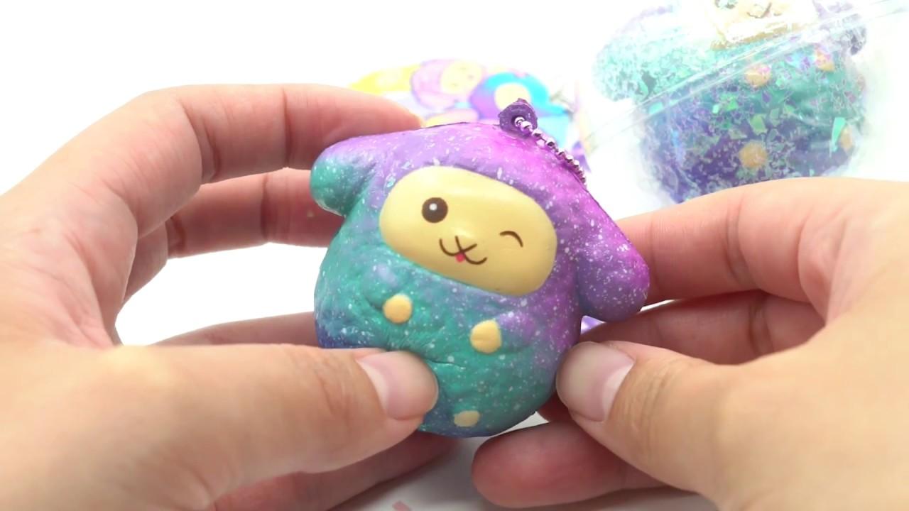 Squishy Galaxy Sheep : mini galaxy wink Easter Sheep squishy by Puni Maru - YouTube