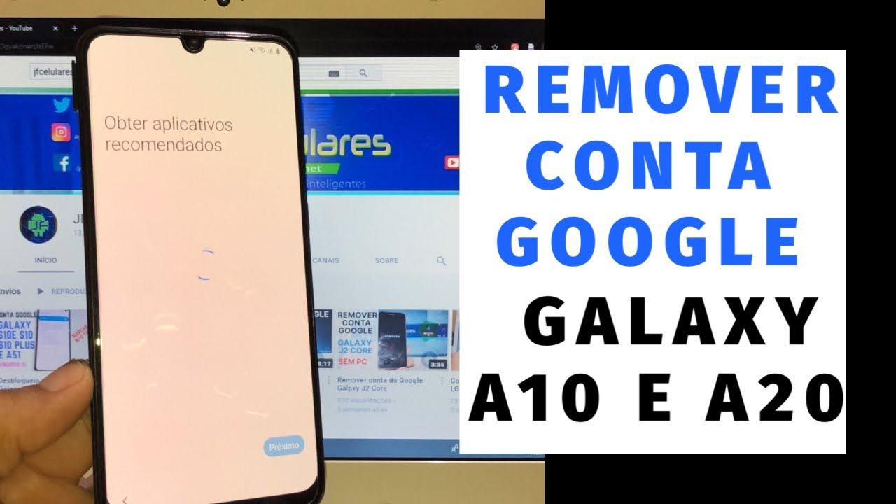 Como remover conta Google Galaxy A20 e A10 1 de junho | NOVO Método