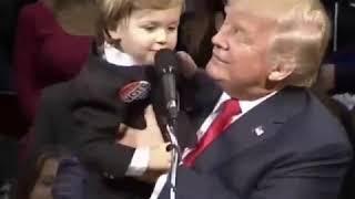 شوفو ترامب و ولده ههههه
