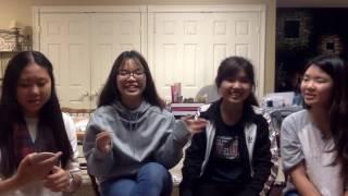 English words in Chinese Korean Vietnamese and Thai!