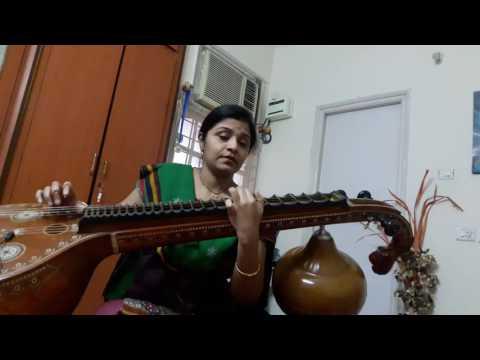 chandra mukhi song on veena by veena srivani