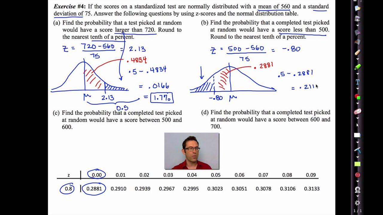 Common Core Algebra Ii Unit 13 Lesson 4 E Normal Distribution And Z Scores