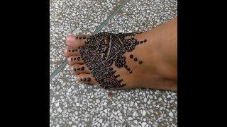 How To Make Simple Easy Mehndi Henna Foot Design Bridal Mehendi By Munni