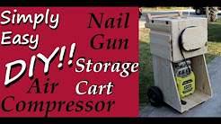 DIY: Air Compressor Nail Gun Storage Cart