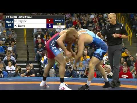 86kg Kyle Dake vs David Taylor Olympics Team Trials 2016 Semifinals