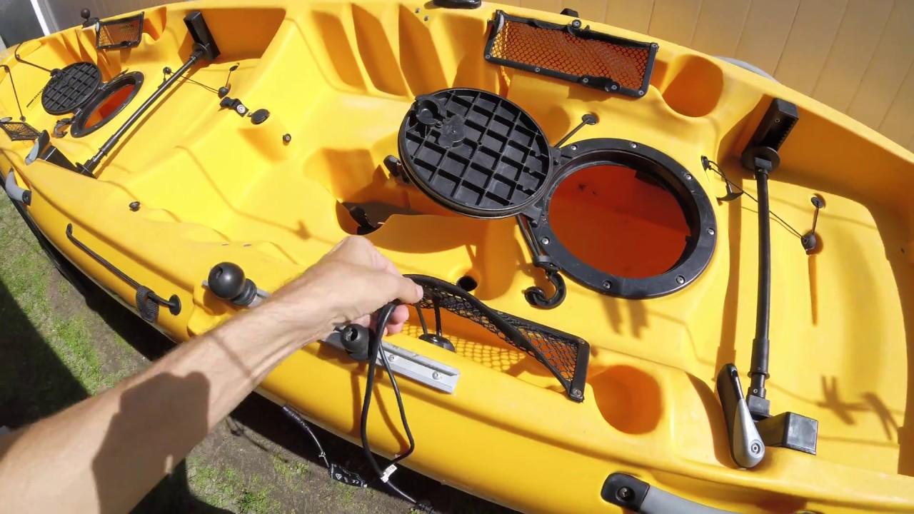 Kayak fish finder/depth finder - wiring guide, and tips. on
