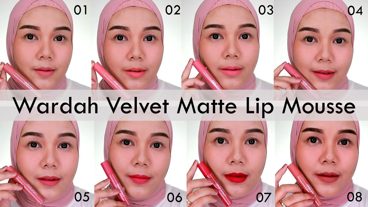 REVIEW WARDAH VELVET MATTE LIP MOUSSE (RE-SWATCH DI VIDEO