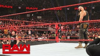 Braun Strowman & Brock Lesnar meet face-to-face before their Royal Rumble battle: Raw, Jan. 7, 2019