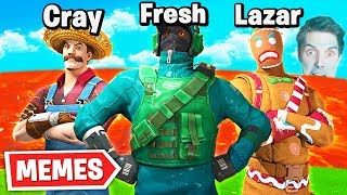 BEST LAVA SQUAD IN FORTNITE?? Ft. LazarBeam & Cray