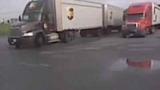 ups driver backing up doubles