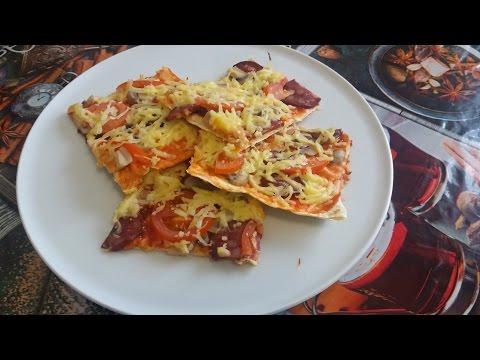 Пицца в мультиварке из лаваша