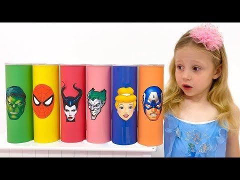 Nastya y sus amigos se convierten en superhéroes