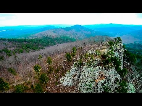 Drone Video of The Ouachita Mountains in West Central Arkansas