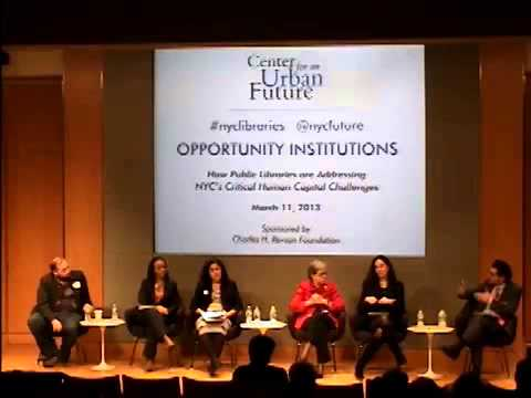 Center for an Urban Future - Opportunity Institutions - 3 of 4 - Panel 1