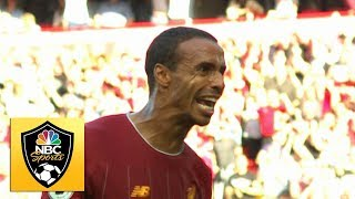 Joel Matip heads home to break deadlock against Arsenal | Premier League | NBC Sports