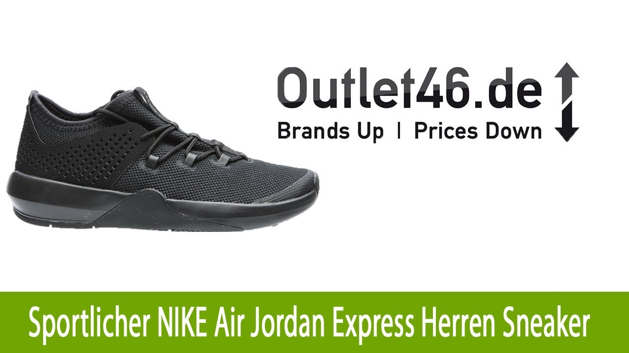 new products 8082b e7547 Sportlicher NIKE Air Jordan Express Herren Sneaker Schwarz l Outlet46.de