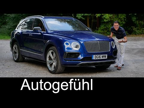 Bentley Bentayga W12 FULL REVIEW test driven SUV Autobahn
