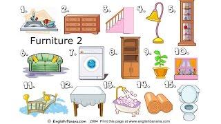 Bé học tiếng Anh qua các đồ vật| Học tiếng Anh cùng bé | Phòng khách