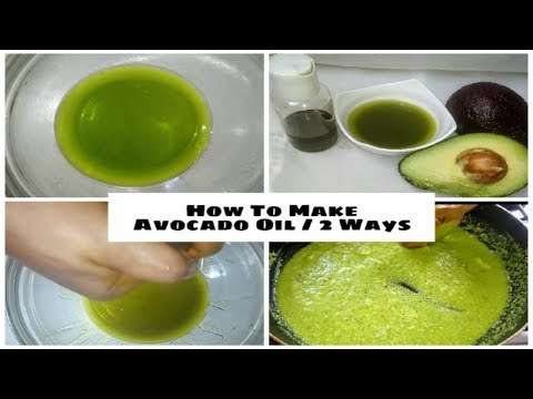 100% Pure Avocado Oil For Skin AND Hair - 2 Methods