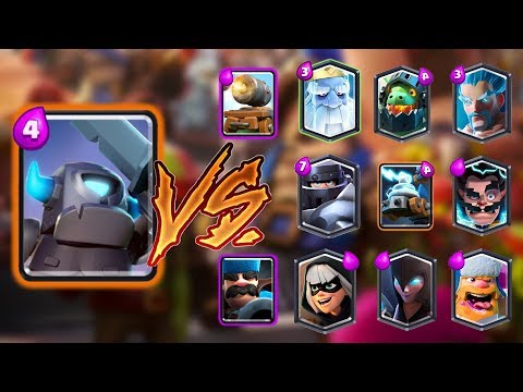 MINI PEKKA VS ALL CARDS IN CLASH ROYALE | MINI PEKKA 1 ON 1 GAMEPLAY