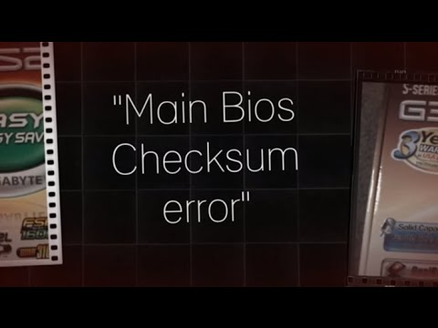 How To Fix Main Bios Checksum Error [HD/720p]