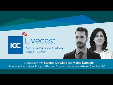 ICC Livecast - Putting A Price On Carbon (COP25)