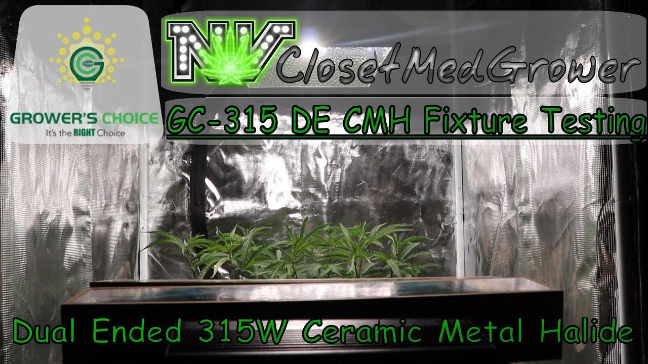 Grower's Choice GC-315 DE - Dual Ended 315W CMH Grow Light Kit - Fixture  Testing