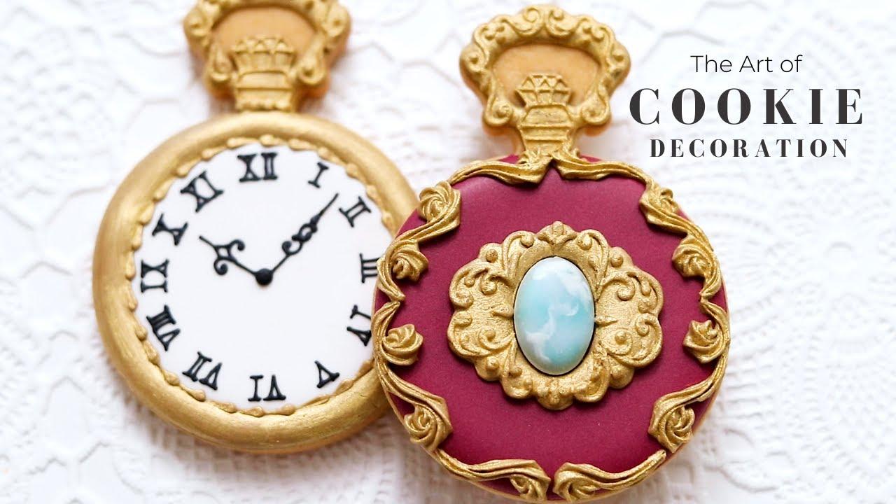 お菓子作家のアイシングクッキー 『宝石の懐中時計』