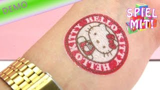 Hello Kitty Glitzer Tattoos - 50 verschiedene Motive unboxing demo review