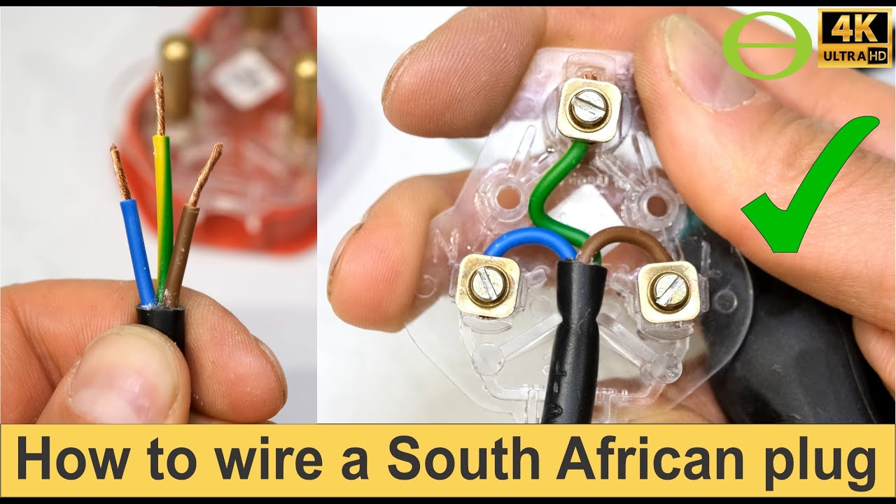 How To Wire A South African Three Pin Plug Top Youtube