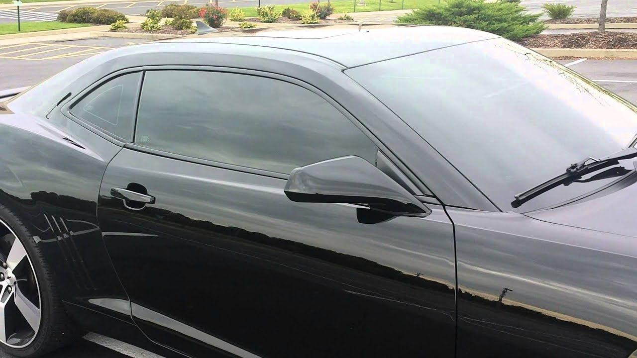 35 Windshield Tint >> 35 Tinted Windshield 2010 Camaro Ss Youtube