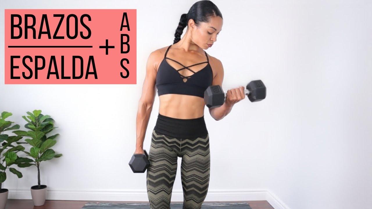 TONIFICA Y ENDURECE BRAZOS Y ESPALDA + ABDOMINALES | Como reducir espalda y tonificar brazos
