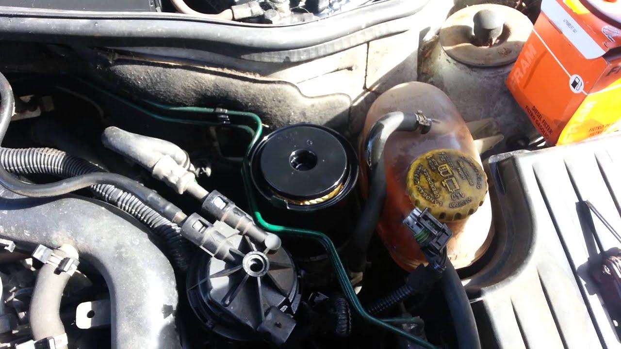 Vauxhall bo diesel 1700 di fuel filter change  YouTube