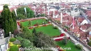 Sights of Graz City Austria Sightseeing Tourism View Panorama Schloss Castle Österreich Old Town