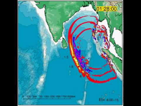 Indian Ocean Tsunami Animation