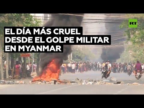 Cifra récord de muertos en Myanmar desde que la junta militar tomó el poder