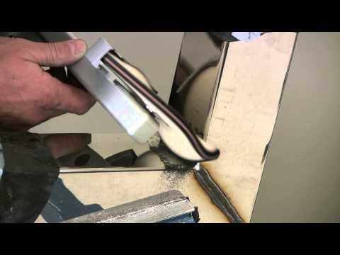Полировка внутренних сварных швов на изделиях из нержавеющей стали.