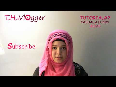 CASUAL & FUNKY (QUICK & EASY) HIJAB TUTORIAL