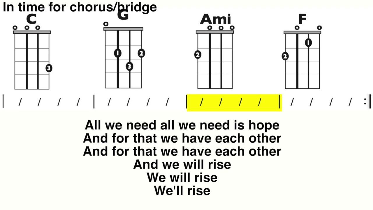 Rise Up Andra Day Ukulele and Lyric Play Along
