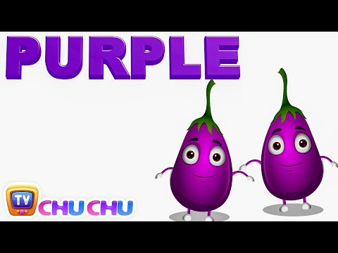 Color Songs - The PURPLE Song | Learn Colours | Preschool Colors Nursery Rhymes | ChuChu TV