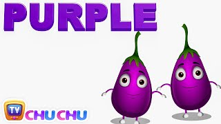 color songs the purple song   learn colours   preschool colors nursery rhymes   chuchu tv