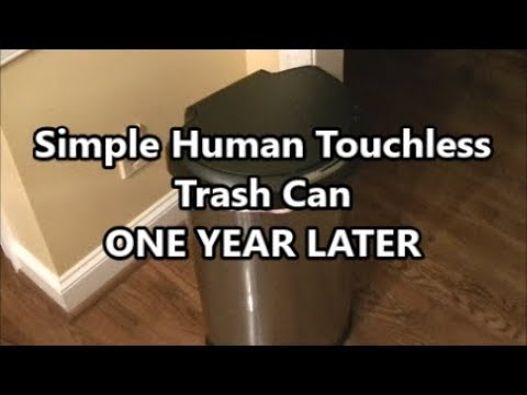 Simple Human Touch Less Trash Can One