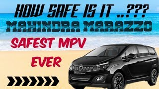 MAHINDRA MARAZZO | HOW SAFE IS IT | BEST MPV | CRASH TEST | SAFEST MPV FOR INDIANS |  NCAP RATING |