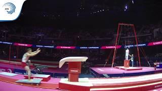 Justin PESESSE (BEL) - 2018 Artistic Gymnastics Europeans, junior vault final