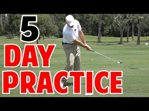 Golf Consistency | 5 Day Practice Plan