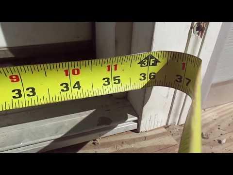 Screen Door Opening: Measuring Instructions
