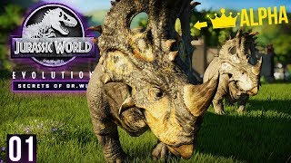 ALPHA DINOS, NEW MAPS, DLC PLAYTHROUGH! | Secrets Of Dr. Wu - Part 1 (Jurassic World: Evolution)
