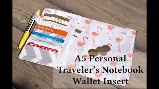 Easy Traveler's Notebook Wallet Insert - sewing tutorial