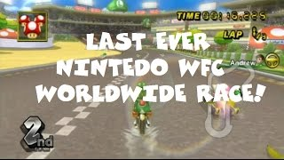 Mario Kart Wii - The Last Ever Worldwide Nintendo WFC Race!
