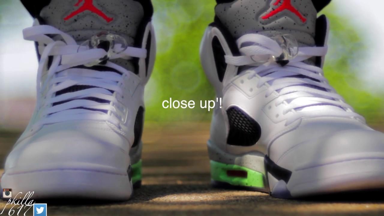 356cd1a97476 Air Jordan 5 Pro Stars AKA Space Jams On Feet Video! - YouTube